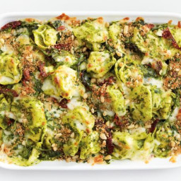 Baked Tortellini with Kale Pesto