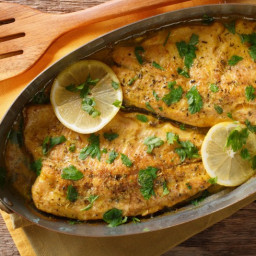 Baked Trout With Lemon Sauce