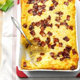 Baked Two-Cheese and Bacon Grits Recipe