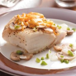 Baked Cod with Mushrooms Recipe