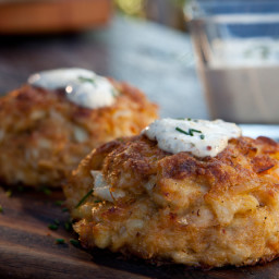 Baked Crabcakes with Old Bay Remoulade