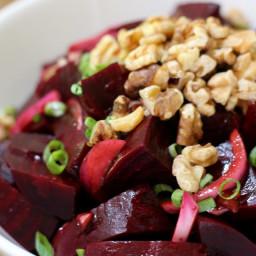Balsamic Beet Salad with Walnuts - By Katie Mae, PlantzSt.com
