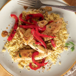 Balsamic Chicken and Peppers with Couscous