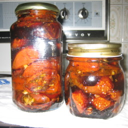Balsamic glazed roasted tomatos