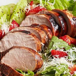 Balsamic Pork and Strawberry Salad