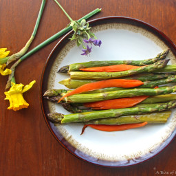 Balsamic Roasted Asparagus and Carrots