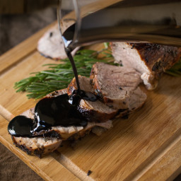Balsamic, rosemary roasted pork tenderloin