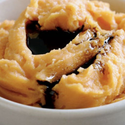 Balsamic sweet potato mash