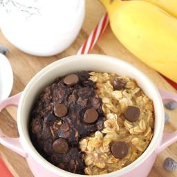 Banana and Chocolate Swirl Baked Oatmeal