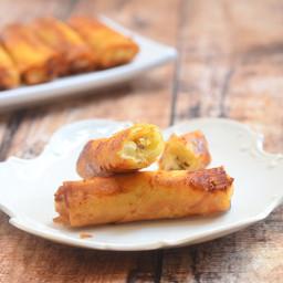 Banana and Cream Cheese Springrolls
