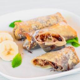 Banana and Nutella Rolls