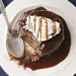 Banana and Walnut Sticky Pudding with Salted Caramel Sauce