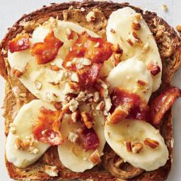 Banana-Bacon-Nut Toast