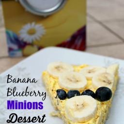 Banana Blueberry Minions Dessert Pizza