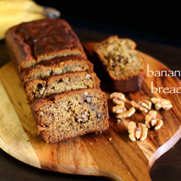 banana bread recipe | eggless banana bread recipe | vegan banana bread