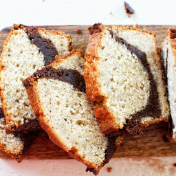 Banana Brownie Loaf Cake