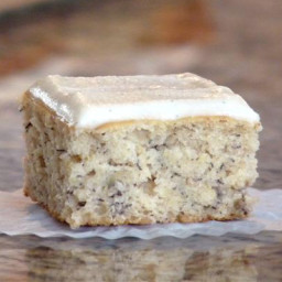 Buttery Um Recipes Banana Cake with Vanilla Bean Frosting