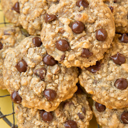 Banana-Oat Chocolate Chip Cookies