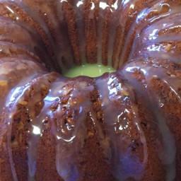 Banana Pound Cake With Caramel Glaze