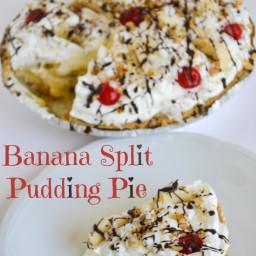 Banana Split Pudding Pie