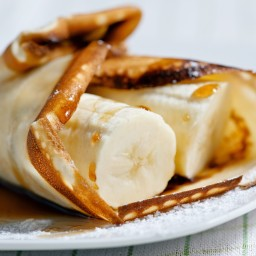 Banana-stuffed Crepes