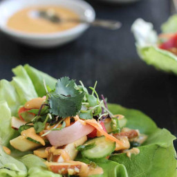 Bánh mì Lettuce Wraps (Gluten Free, Vegan, Raw)