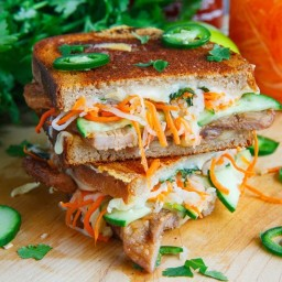 Banh Mi Grilled Cheese (pork, chicken, sandwich, oriental)