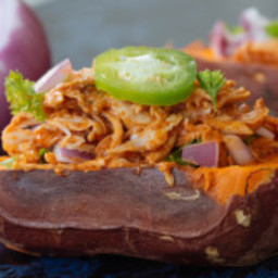 Barbecue Chicken Baked Sweet Potatoes