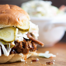 Barbecue Pulled Pork with Dill Pickle Slaw