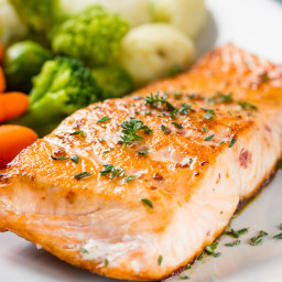 Barbecue-roasted Salmon
