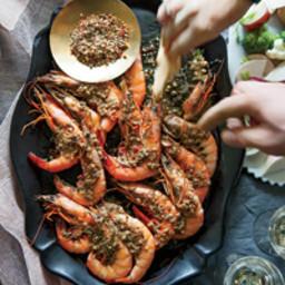Barbecue Shrimp Bagna Cauda with Crudités