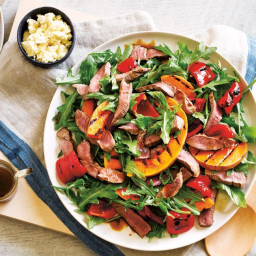 Barbecued butternut and lamb salad