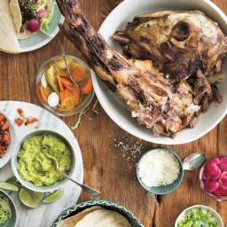 Barbecued Lamb's Head Carnitas with Masa
