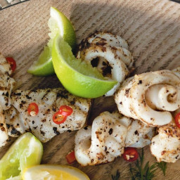 Barbecued salt and pepper squid