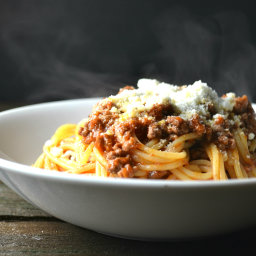 Barilla® Spaghetti with Chipotle Ground Beef and Cotija