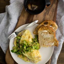 Barley and Asparagus Omelette