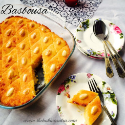 Basbousa - a traditional Egyptian semolina cake