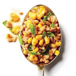 Basil and Corn Farro Salad