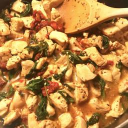 Basil Chicken & Sun Dried Tomato Bowl