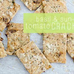 Basil & Sun-Dried Tomato Crackers