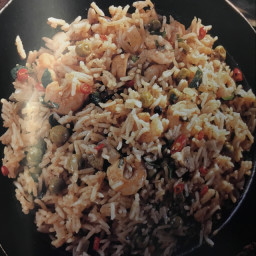Basmati Mushroom Rice with Prawns