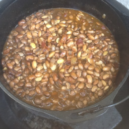 BBQ Baked Beans on Big Green Egg
