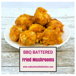 BBQ Battered Fried Mushrooms