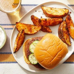 BBQ Beyond Burgers™ with Roasted Potatoes & Garlic Sour Cream