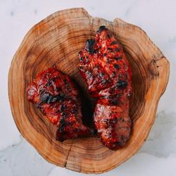 BBQ Char Siu Roast Pork on the Grill