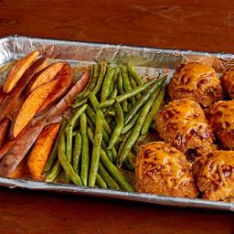 BBQ Chicken and Sweet Potato Sheet-Pan Dish