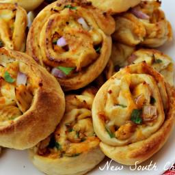 BBQ Chicken Pinwheels