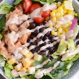 BBQ Chicken Salad Cilantro Lime Rice Bowls