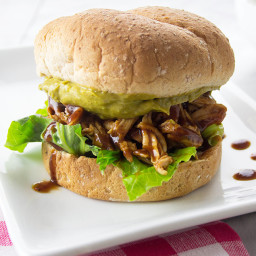 BBQ Chicken Sandwiches with Jalapeno Avocado Spread