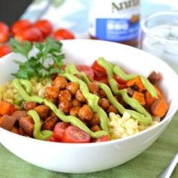 BBQ Chickpea Bowls with Avocado Cream